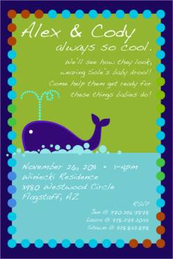 Sole baby shower invite